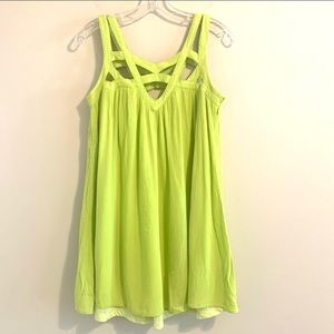 Double Zero Strappy Lime Green Dress